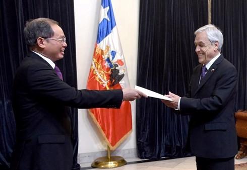 チリ大統領、ベトナム大使と会見  - ảnh 1