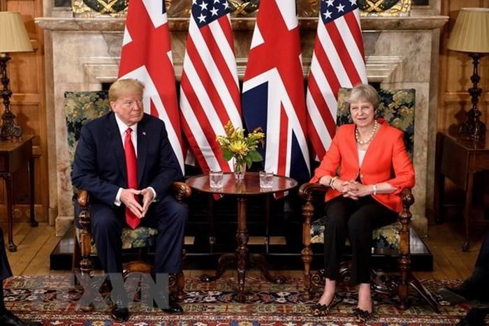 トランプ大統領と英メイ首相が会談 貿易協定など進展なしか - ảnh 1