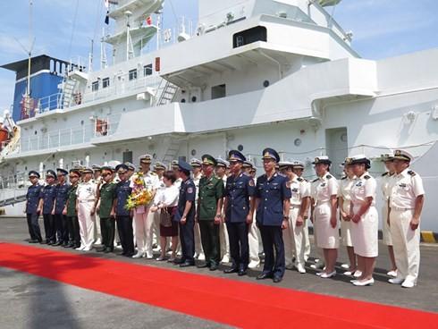 ダナンに海上保安庁の練習船「こじま」、寄港 - ảnh 1