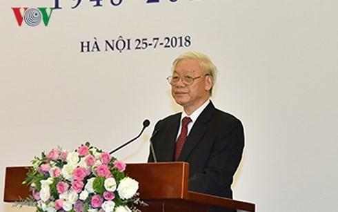 チョン書記長、ベトナム文芸連合設立70年記念式典へ - ảnh 1