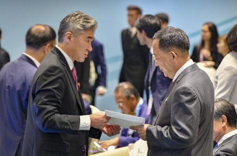 正恩氏からの書簡の返信、米が朝鮮側へ手渡す - ảnh 1