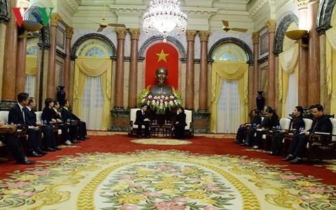 ティン国家主席代行、韓国首相と会見 - ảnh 1