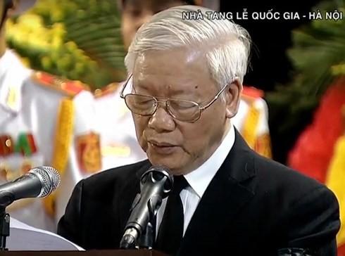 クアン国家主席の追悼式 - ảnh 1