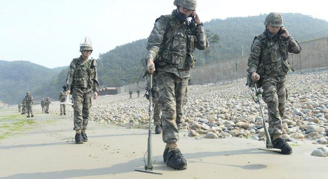 朝鮮と韓国、軍事境界線周辺で地雷除去を開始=韓国国防省 - ảnh 1