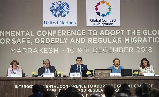 移民協定を支持=米など反対・棄権17カ国-国連総会 - ảnh 1
