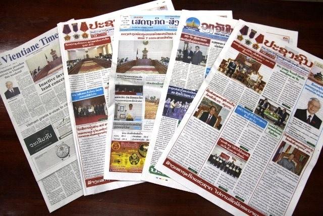 ラオス新聞、チョン氏のラオス訪問を高く評価 - ảnh 1