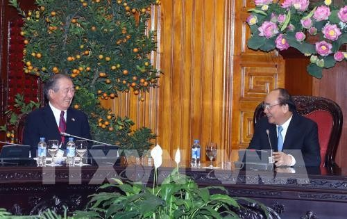 フック首相、日本メコン地域経済委員会委員長と会見 - ảnh 1