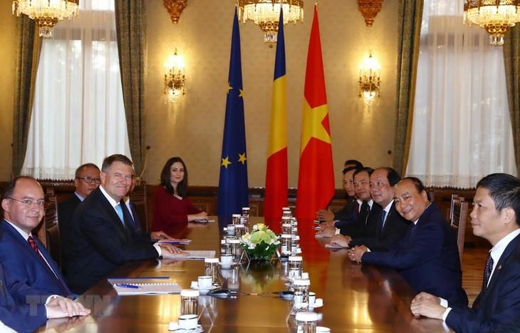 フック首相、ルーマニアの指導者らと会見 - ảnh 1