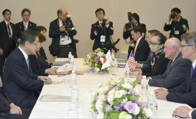 日米新貿易交渉 事務レベル協議「主張にかなり開き」 - ảnh 1