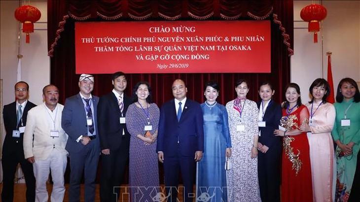 フック首相、関西在留ベトナム人の代表と懇親 - ảnh 1