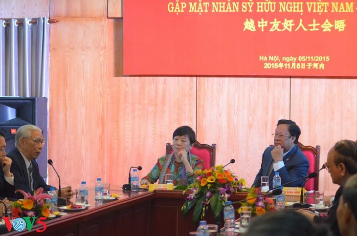越友联和中国全国友协的越中友好人士会晤 - ảnh 10