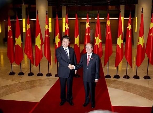 越南国会主席阮生雄会见中共中央总书记、中国国家主席习近平 - ảnh 1