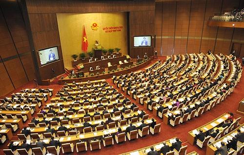 越南国会就国家选举委员会人事和立法工作进行讨论 - ảnh 1