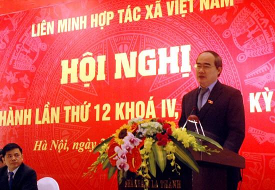 阮善仁:越南农业结构重组进程的最重要主体是新型合作社 - ảnh 1