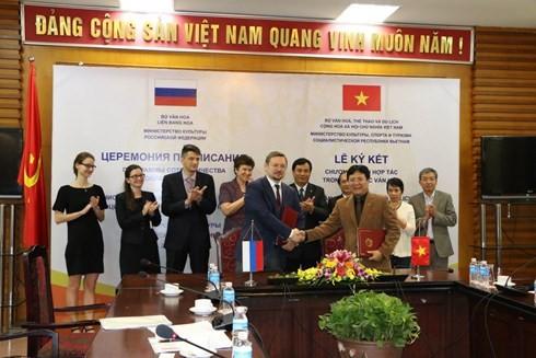越俄签署文化合作计划 - ảnh 1