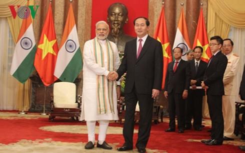 陈大光会见印度总理莫迪 - ảnh 1