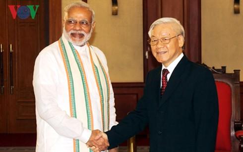 阮富仲会见印度总理莫迪 - ảnh 1