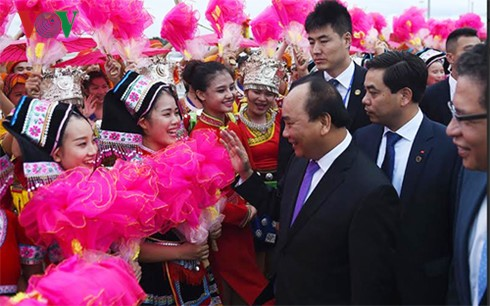 阮春福抵达南宁开始对中国进行正式访问 - ảnh 1