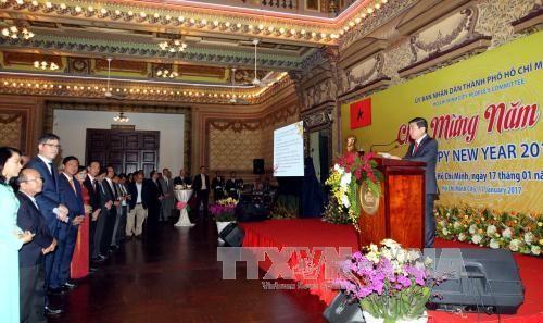 胡志明市领导人会见外国代表机构代表 - ảnh 1