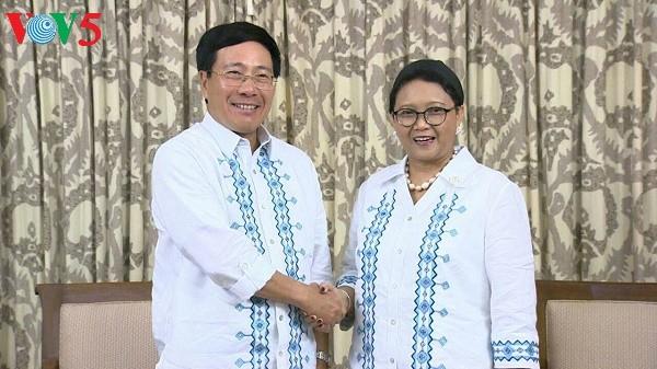 范平明会见菲律宾外长亚赛和印度尼西亚外长蕾特诺 - ảnh 2