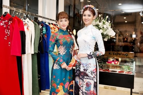 第10服装总公司推出传统和现代奥黛时装款式 - ảnh 1