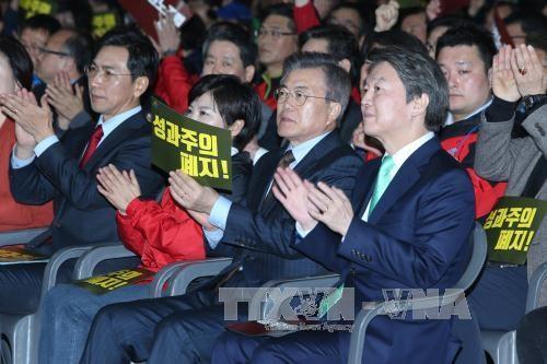 韩国总统选举:韩国国民之党提名前党首安哲秀为总统候选人 - ảnh 1