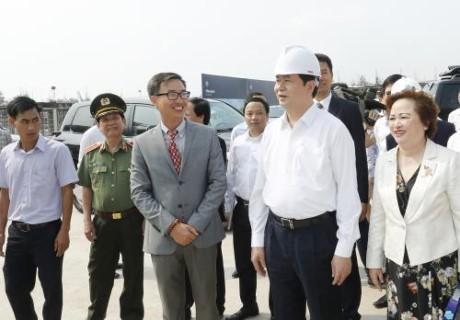 陈大光检查在岘港举行的2017年亚太经合组织领导人会议周相关准备工作 - ảnh 1