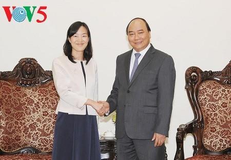 阮春福会见中国台湾宝成国际集团执行长蔡佩君 - ảnh 1