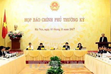 越南政府举行2017年10月份工作例会 - ảnh 1
