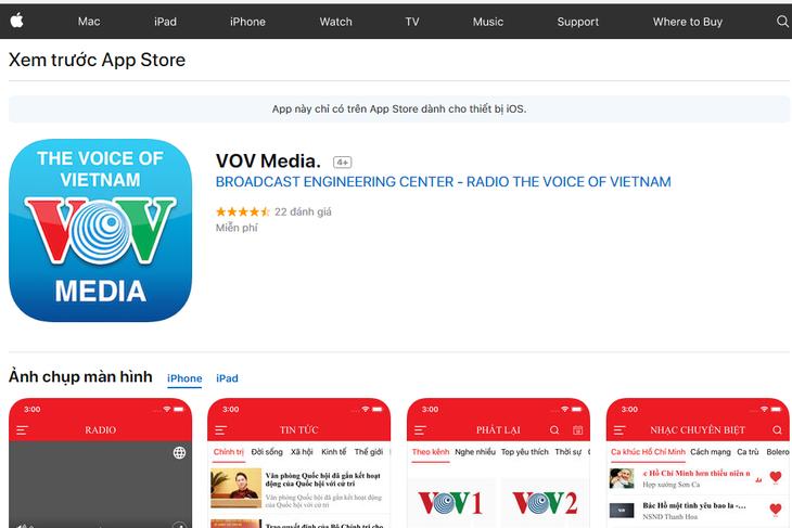 """""""VOV Media""""APP给受众提供本台广播、电视节目及最新资讯 - ảnh 1"""