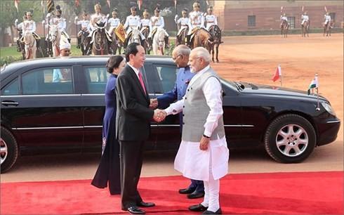 陈大光在印度的访问活动 - ảnh 1