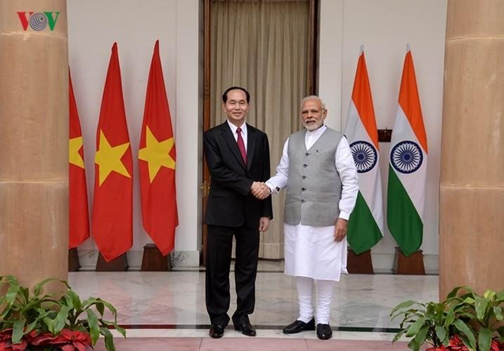 越南国家主席陈大光结束对印度的国事访问 - ảnh 1