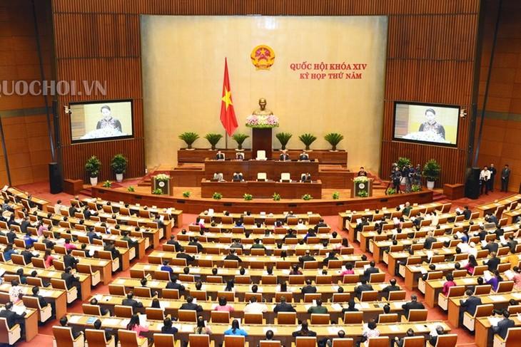 越南十四届国会五次会议讨论《越南海警法(草案)》 - ảnh 1
