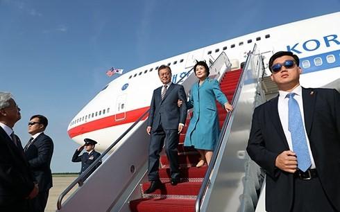 韩国总统文在寅访问美国 - ảnh 1