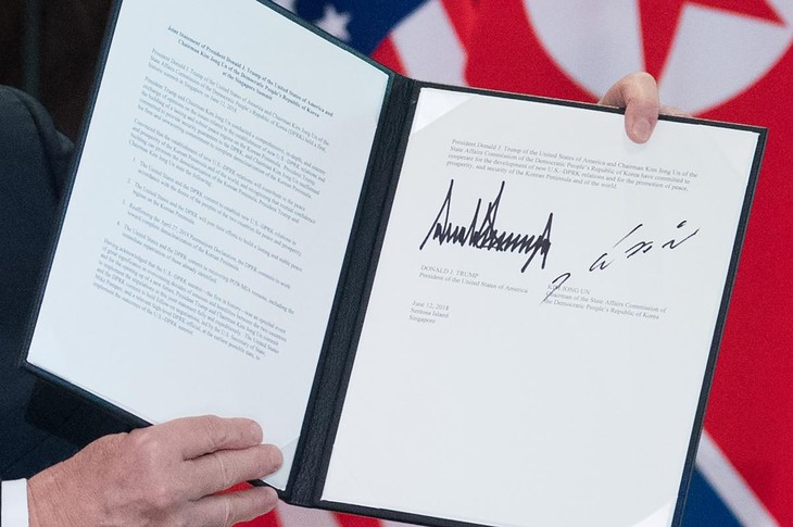 美朝联合声明  同意建立新型双边关系 - ảnh 1