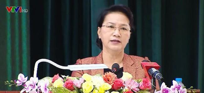 国会主席与芹苴市第九军区选民接触 - ảnh 1