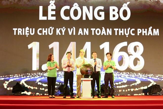越南工贸部举行食品安全百万签名发布仪式 - ảnh 1