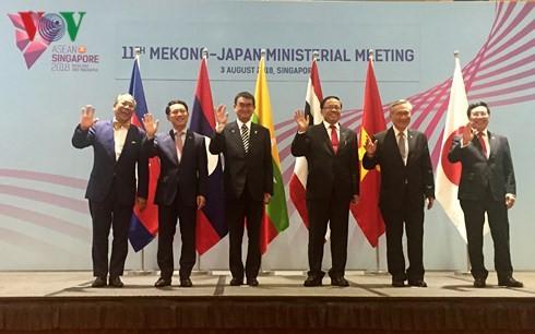第11次湄公河区域各国与日本合作部长级会议举行 - ảnh 1