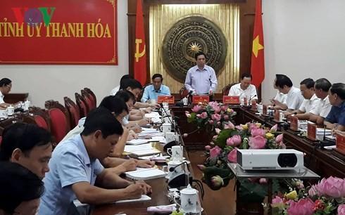越共中央组织部部长范明正视察清化省 - ảnh 1