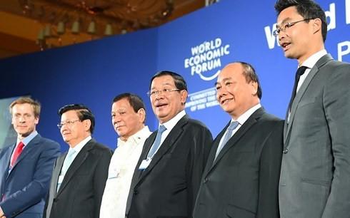 出席越南举办的世界经济论坛东盟峰会的国家元首创历届之最 - ảnh 1