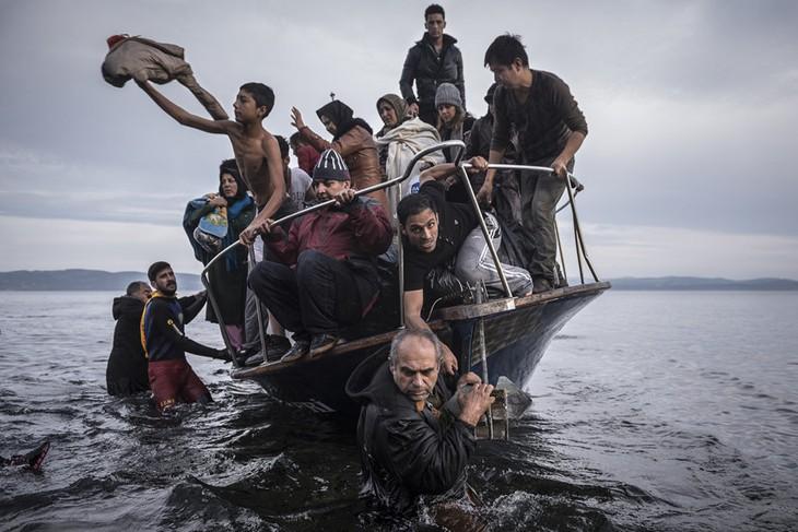 难民问题:欧洲五国同意接收水瓶座号救护船上的难民 - ảnh 1