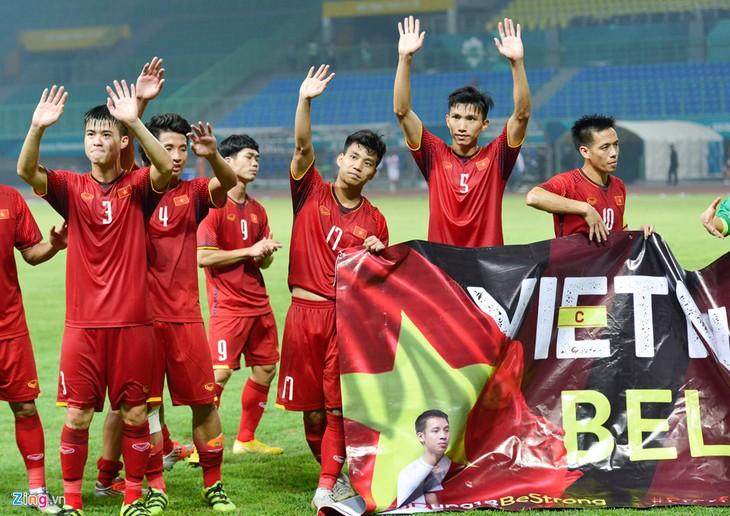 ASIAD 2018:越南国奥队首次晋级四分之一决赛 - ảnh 1