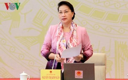 越南国会主席阮氏金银出席专职国会代表会议   - ảnh 1