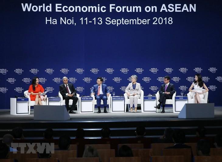 2018世界经济论坛东盟峰会举行各场讨论会   - ảnh 1