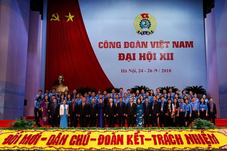 越南工会第12次全国代表大会取得圆满成功 - ảnh 1