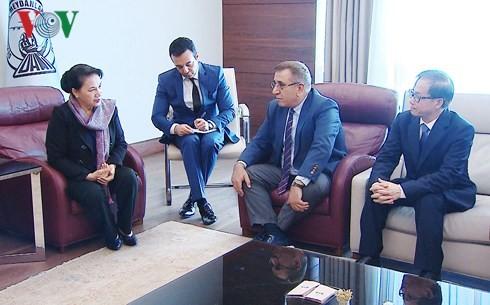 阮氏金银抵达土耳其出席第三届欧亚国家议长会议并正式访土 - ảnh 1