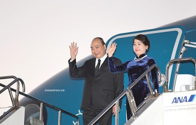 阮春福抵达东京出席第十届湄公河流域国家与日本峰会并访问日本 - ảnh 1