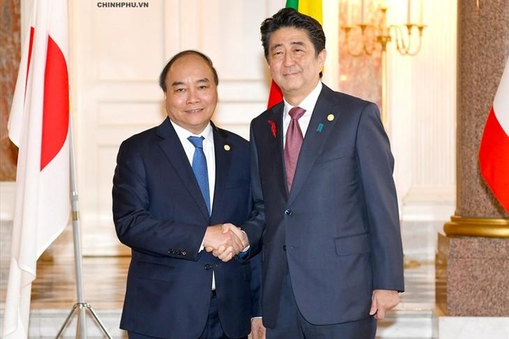 阮春福出席第十届湄公河流域国家与日本峰会 - ảnh 1
