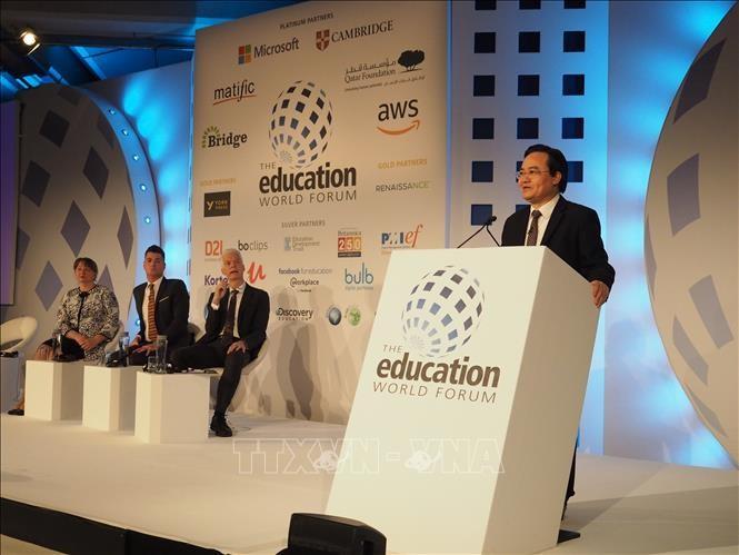 越南参加在英国举行的世界教育论坛 - ảnh 1