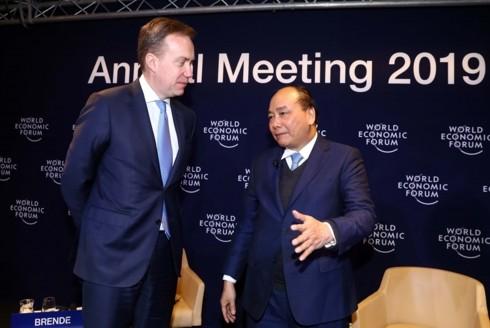 阮春福圆满结束出席世界经济论坛2019年年会行程 - ảnh 1
